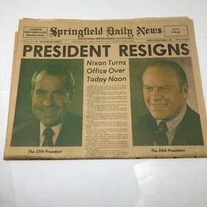 President Nixon Resigns  August 9, 1974 Ford